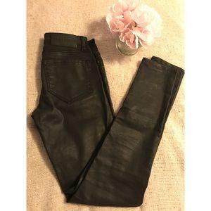 All saints mast fit wax coated leather like jeans